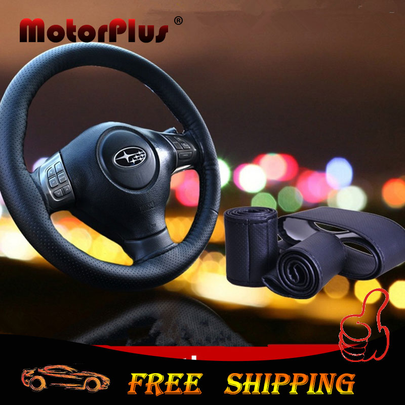 2016 Black Fiber Leather Steering Wheel Hub Cover Anti-slip Protect Case For Toyota CRV RAV4 Camry For VW Golf Passat Golf Jetta(China (Mainland))