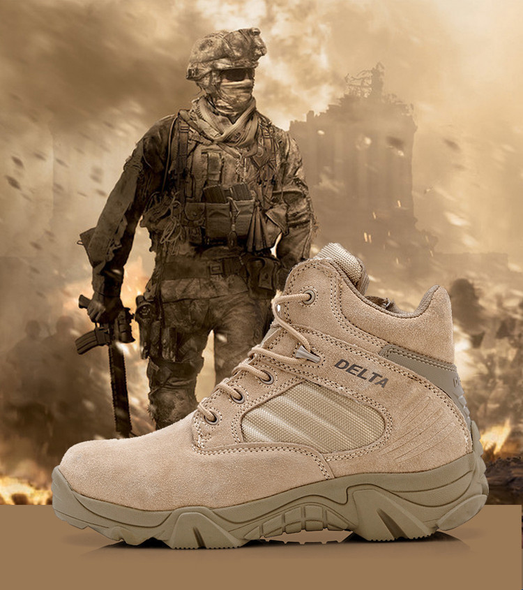 Delta Brand Military Tactical Boots Desert Combat Outdoor Army Travel Tacticos Botas Shoes Leather Autumn Ankle Men Male - The wolves outdoor store