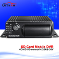 Free shipping 4CH SD Card Mobile DVR H 264 Car DVR Motion Detect Cycle Recording MDVR