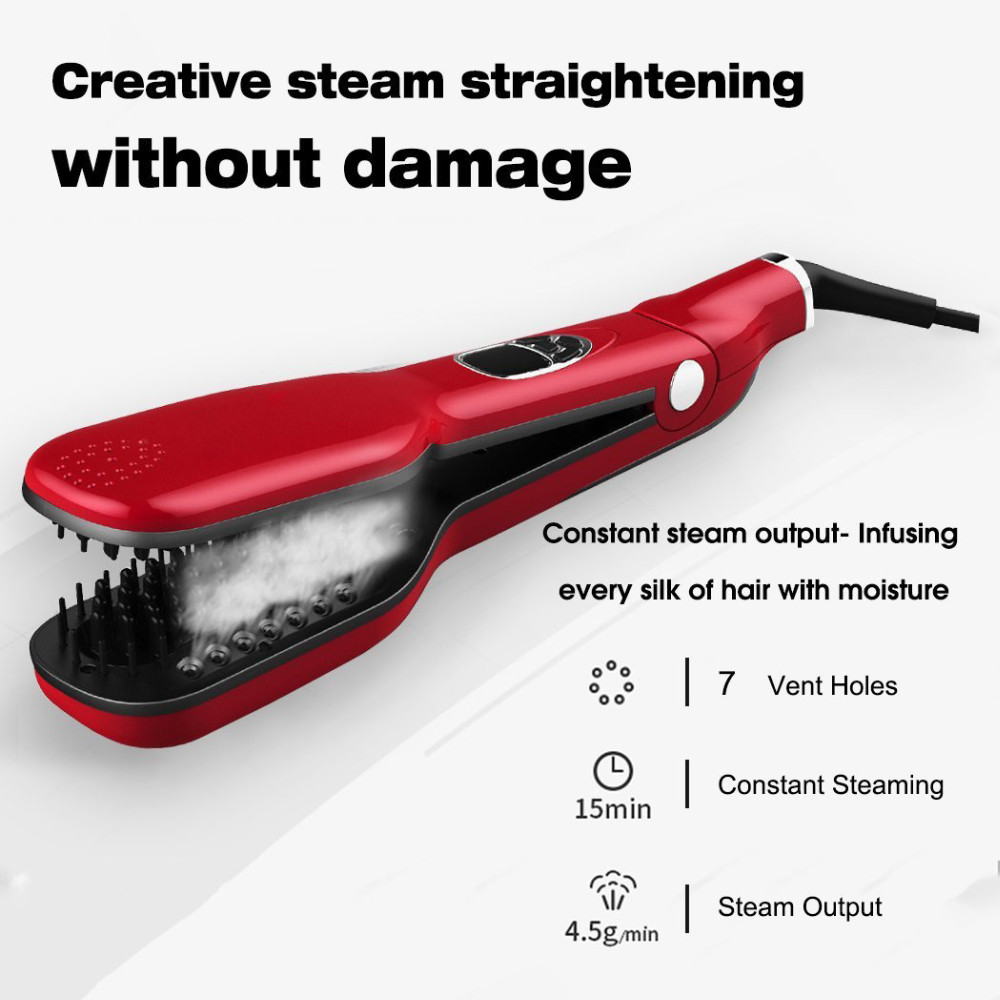 2016 New Arrival Hot Steam Brush Straightener Tourmaline