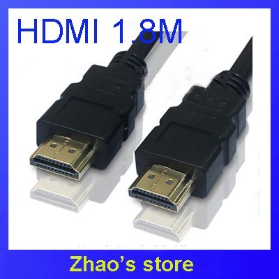 1.8M HDMI Cable Premium Gold Male to Male HDMI 1.3 Cable for HDTV LCD C830 100pcs/lot