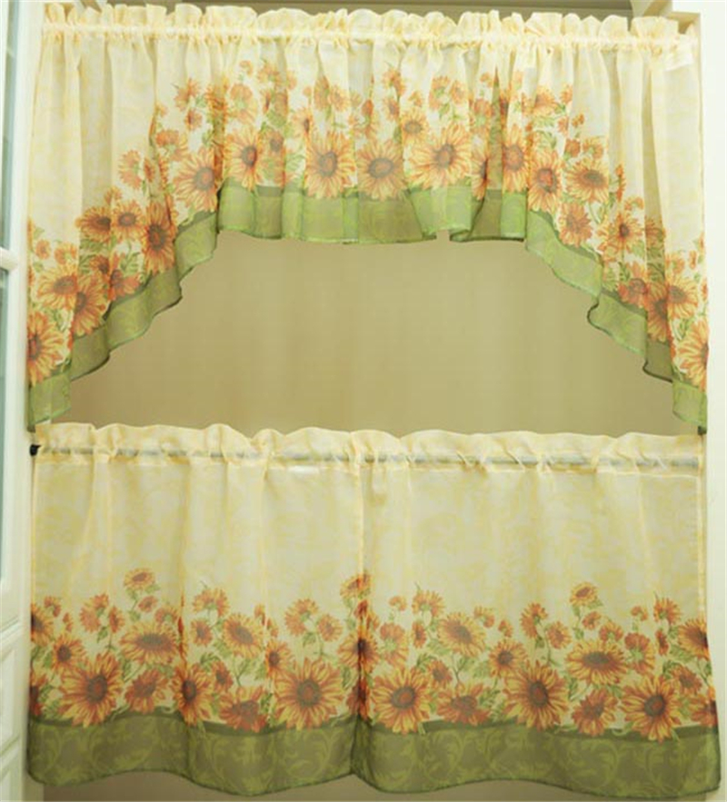 Popular Sunflower Valance Kitchen Curtains Buy Cheap