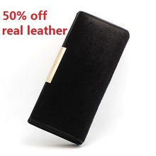 horsehair women wallets genuine leather purses designer brand long ladies leather wallet woman 100 real leather