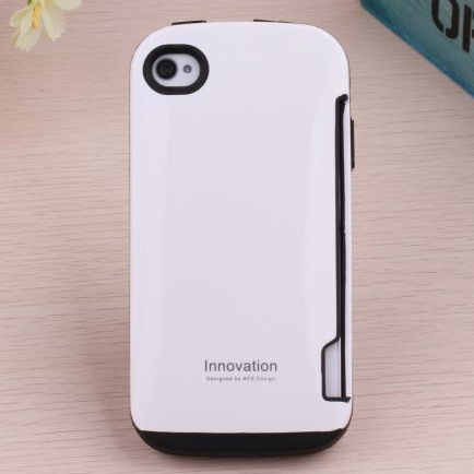 Original HOT Korea Candy Luxury Fashion Shockproof women men Plastic rubber Hard Phone Case Cover card holder for iPhone 4 4S(China (Mainland))