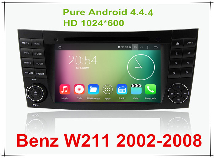 """Android 4.4.4 HD 1024*600 Quad core 1.6GHz Nand Flash 16GB 7"""" Car DVD Player For Benz W211/CLS W219/G W463/CLK W209(China (Mainland))"""