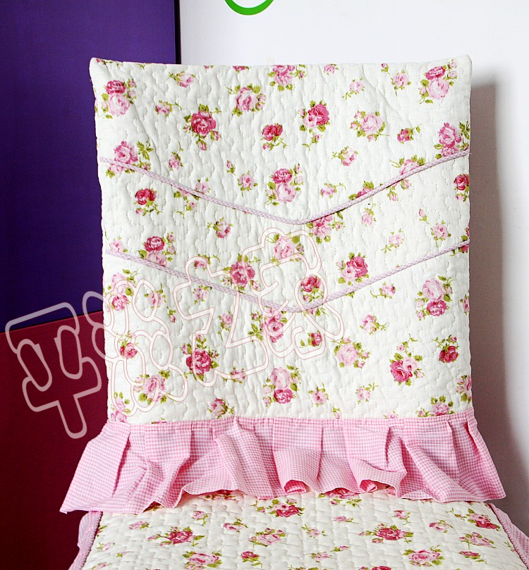 style white rose full set chair cushion covers dining single ronghua liuu0027s store - Chair Cushion Covers