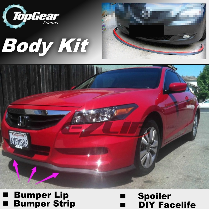 For HONDA For Accord CB CD CF CL CG CH Bumper Lip Lips / Top Gear Shop Spoiler For Car Tuning / TOPGEAR Body Kit + Strip(China (Mainland))