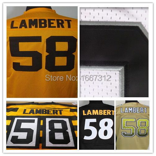 Pittsburgh #58 Jack Lambert Jerseys Football Jerseys elite Stitched Rugby For Steelers Jerseys cheap authentic sports jerseys(China (Mainland))