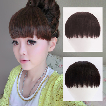 Wig with bangs fake fringe girls hoop type knife invisible seamless fringe hair piece