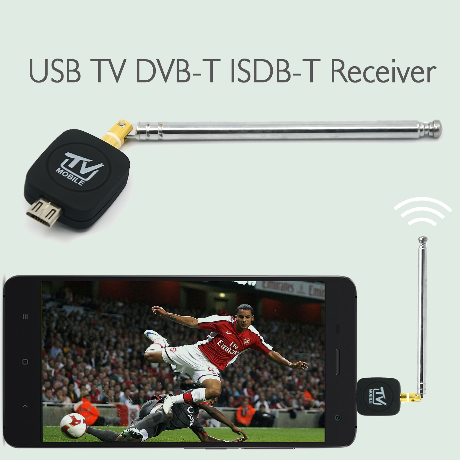 Cellphone DVB-T/ISDB-T Micro USB TV Tuner Pocket Receiver Antenna Adapter for Android Mobile Phone TV Antenna Smart Phone Tablet(China (Mainland))