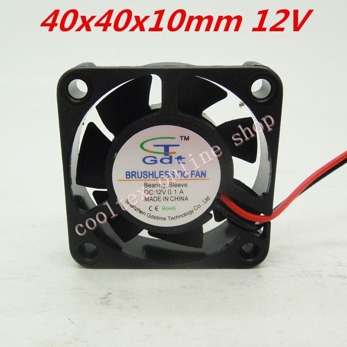 3pcs/lot 40x40x10mm 4010 fans 12 Volt Brushless DC Fans for heatsink cooler cooling radiator Free Shipping(China (Mainland))