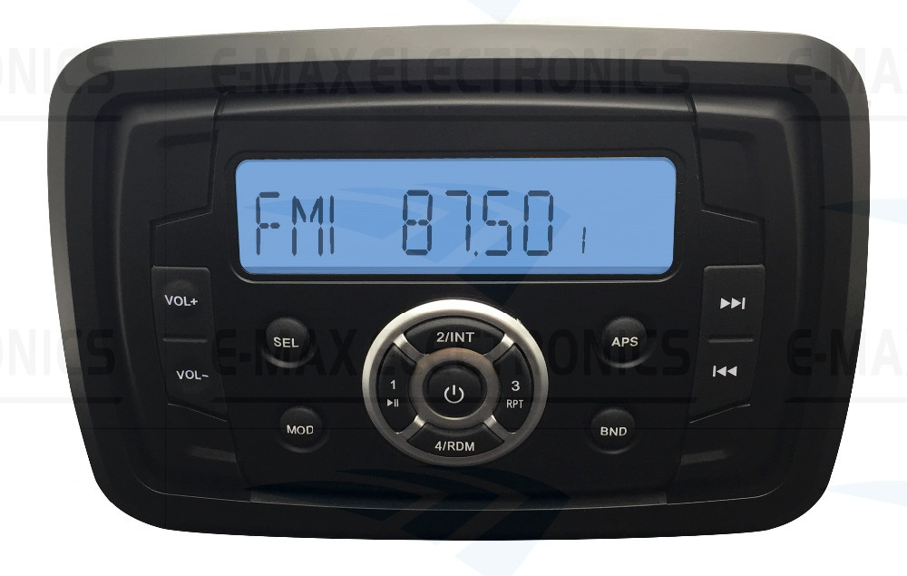 Heavy Duty Waterproof Marine Stereo MP3 AM FM ATV Motorcycle Radio MP3 Audio Receiver Sound System With Bluetooth Music Function(China (Mainland))