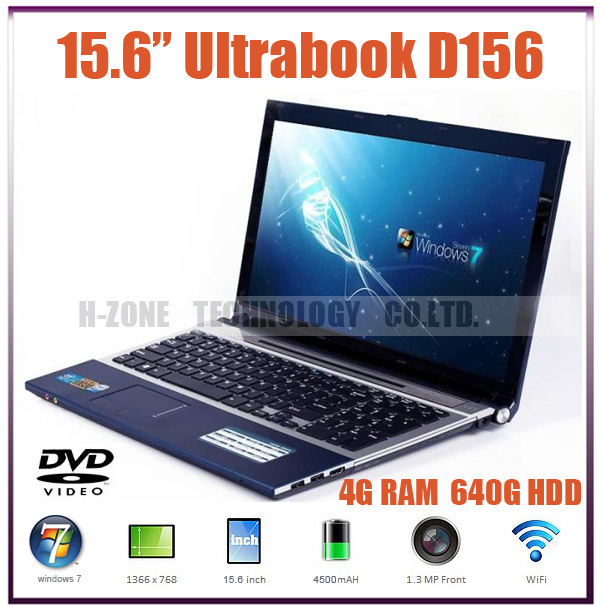 2015 new 15 6 laptop computer with Intel N2600Dual core 1 6G Built in DVD RM