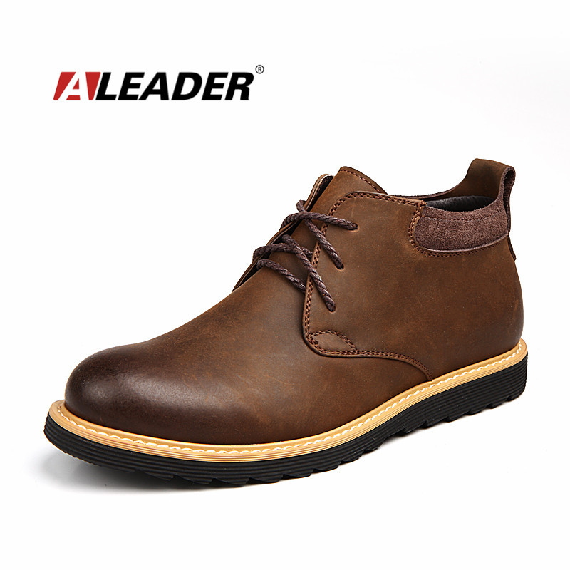 Waterproof Boots Men Leather 2015 Autumn Casual Lace Up ...