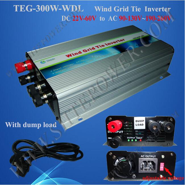 dc 36v 48v to ac 100v 110v 120v 220v 230v 240v pure sine 300w wind power grid tie inverter(China (Mainland))