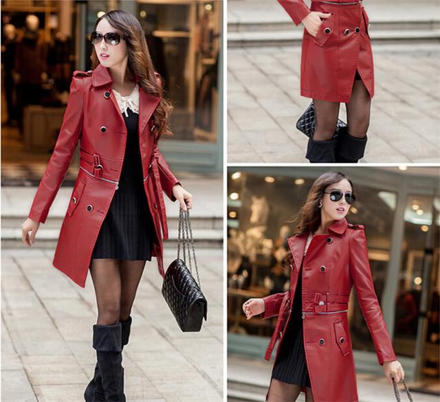 Long Leather Jacket Women