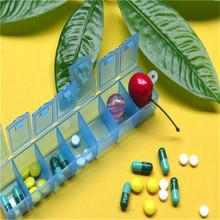 New Mini Week 7Days Medicine Pill Storage Box Case Pillbox Container (China (Mainland))