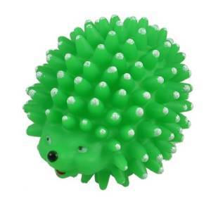 New Pet toy Vinyl Rubber Hedgehog Shaped Squeaky Chew Pet Toy drop shipping(China (Mainland))