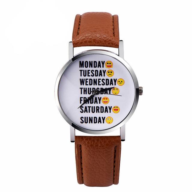 Zegarek damski Emoji Week różne kolory