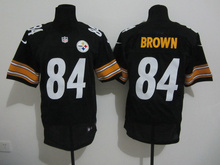 2016 Uomo Pittsburgh Steelers #84 Antonio Brown #7 Ben Roethlisberger #25 Bruns Elite embroideried nero bianco#26 LeVeon Campana(China (Mainland))