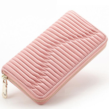 High Quality Luxury Fashion Handmade Sheepskin Women Long Wallet Genuine Leather Lady Purse Handbag Famous Brand Designer Bags