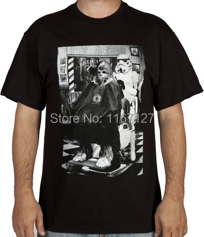 Death Star Barber Shop T Shirt 2014 Men Tee 100% Cotton 16 Color Available plus S-XXXL Free Shipping Whole sale(China (Mainland))