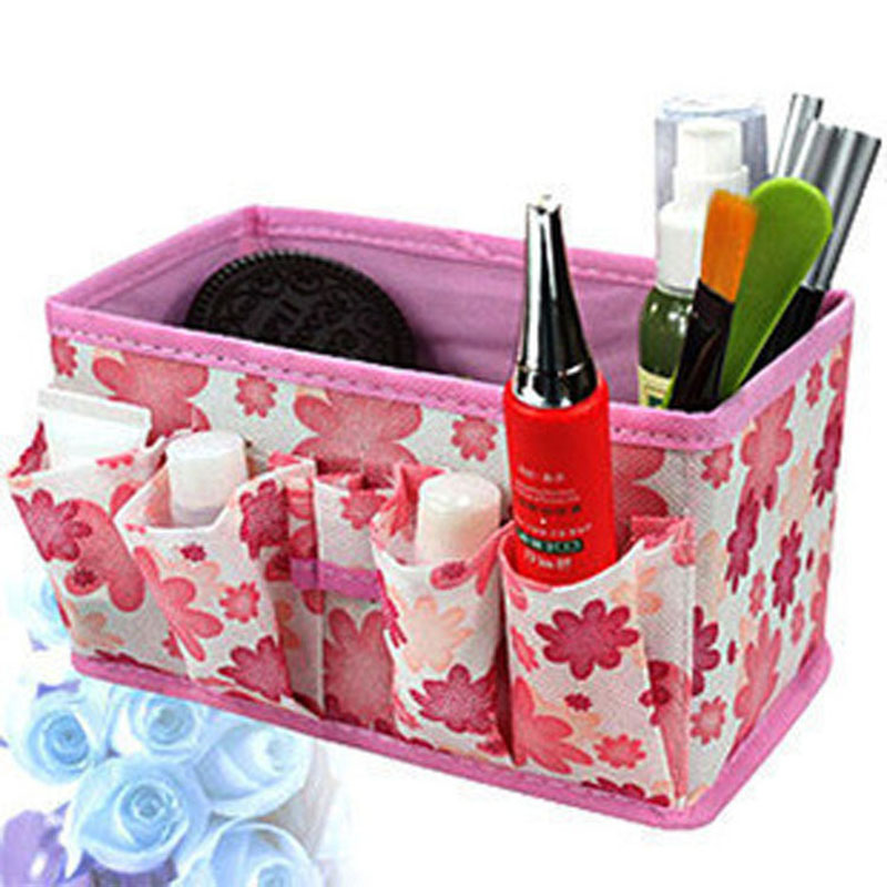 Cosmetic storage box folding Multifunctional Storage bag Cute Box Container Free Shipping New store red popularity(China (Mainland))