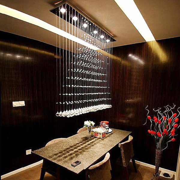 Free shipping simple fashion modern led crystal pendant lights dining room pendant lamp - Modern pendant lighting for dining room ...