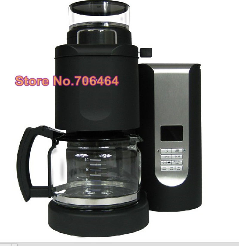 Fashion Fully automatic drip coffee maker all-in one button with grinder Portable eletric coffee machine kitchenware(China (Mainland))