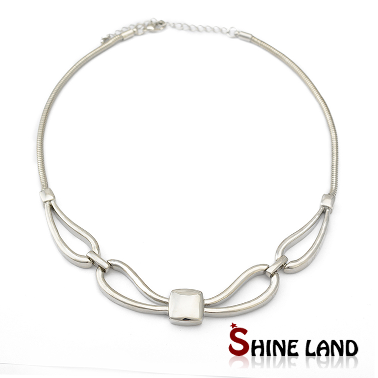 Gold Silver Color Alloy Exaggerate Snake Chain Party Chokers Statement Jewelry Fashion Necklace Women 2015 - shineland Official Store store