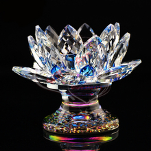 Crystal Lotus Buddhism Candle Holder Crystal Islamic Religious Gifts(China (Mainland))