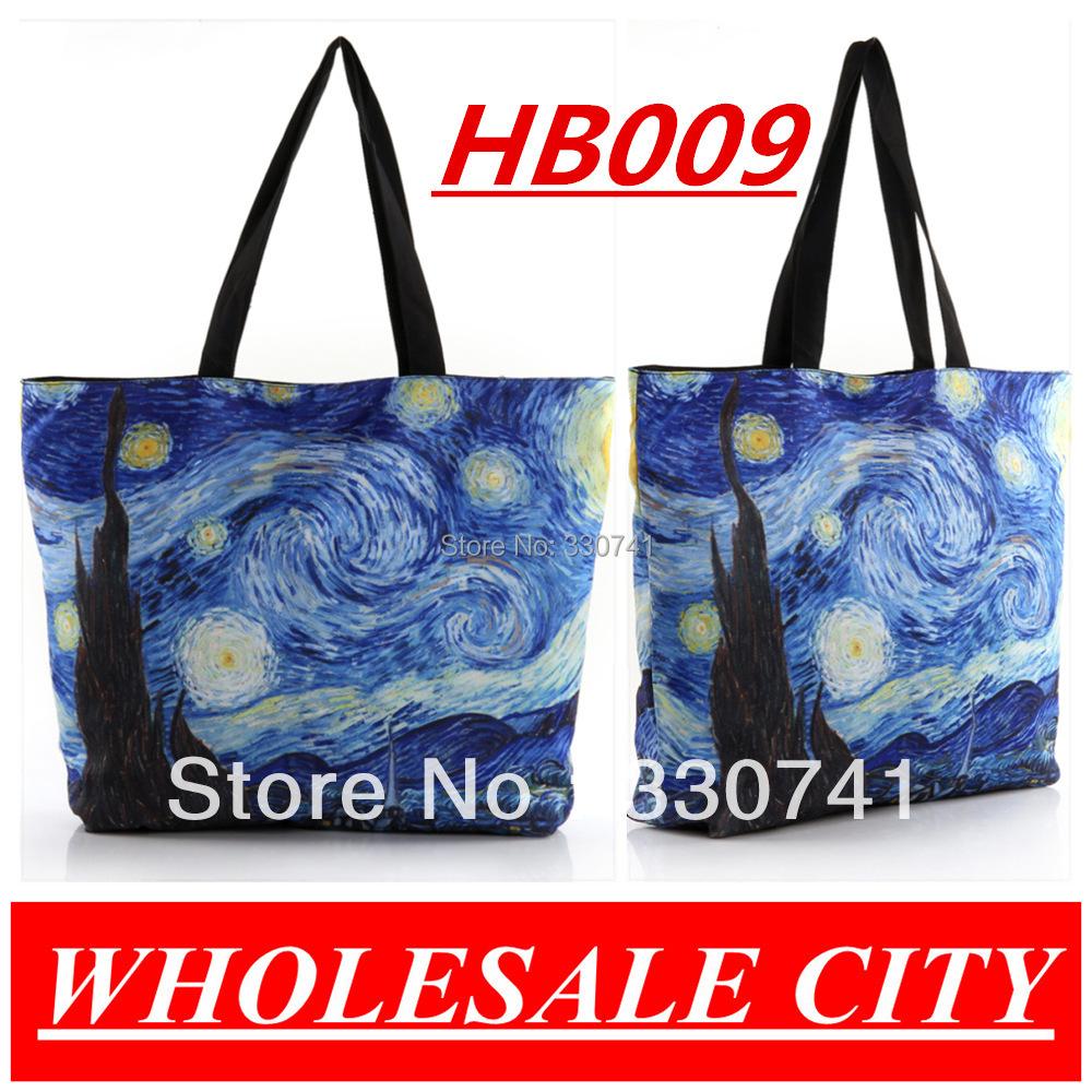 HOT SALE Women Galaxy Shopping Canvas Handbag Computer LAPTOP Ipad Recycle Totes Candy-colored Shoulder Bag FREE SHIPPING(China (Mainland))
