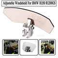Motorcycle Variable Spoiler Windscreen Bolt On Airflow Adjustable Windshield For BMW R1150 R1200GS All Windshield Models