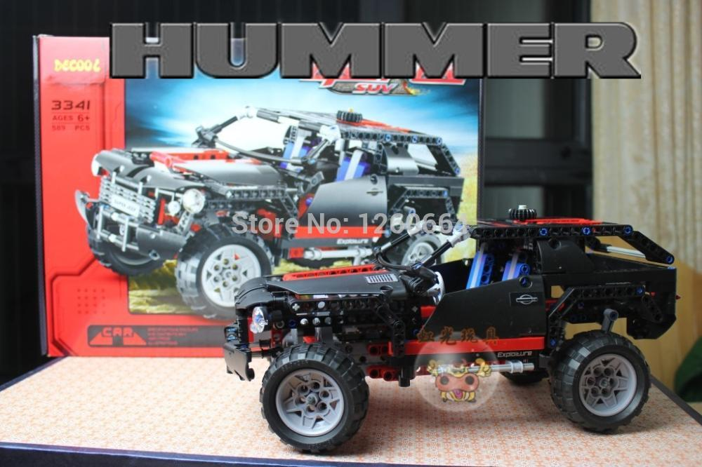 589pcs Hummer Transport Cruiser SUV Racing Car Truck Model Building Block Sets DIY Toys Gift Compatible With Lego Technic(China (Mainland))