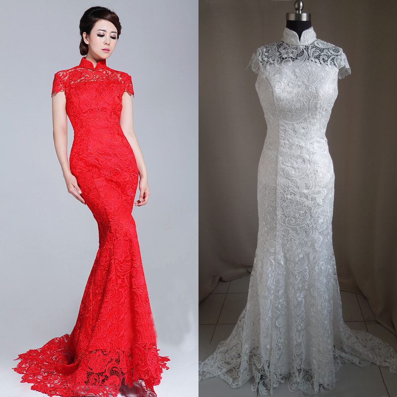 Awesome chinese style wedding dress gallery styles for Red and black wedding dresses for sale