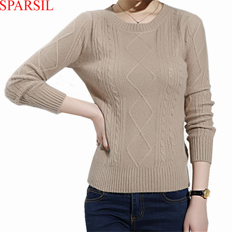Winter Women O-Neck Angora Knitted Soft Pullover Sweater Autumn 2015 Sweet&amp;Fashion Lady Long Sleeve Knitwear Jumper A11Одежда и ак�е��уары<br><br><br>Aliexpress