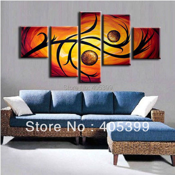 Free Shipping !! The Two World ! Huge  Real Handmade Modern Abstract Oil Painting On Canvas Wall Art ,Z055