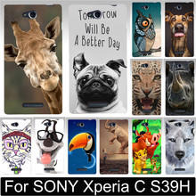 Buy Cool Animal Print Horse Cat Fox Giraffel Dog Owl Painted Hood Phone Cases Cover SONY Xperia C S39H C2305 Phone Case Shell for $1.38 in AliExpress store