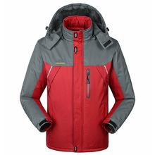 -30 C FIT Plus Thick Velvet Down & Parka coat 6XL 7XL 8XL 2014 winter jacket men waterproof windproof chaquetas hombre(China (Mainland))