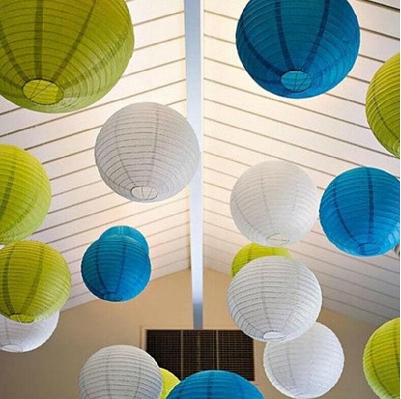 (12pcs/lot) mix size (20,25,30cm) Chinese paper lantern wedding decoration 20 colors for choosing wedding hanging lantern W057(China (Mainland))