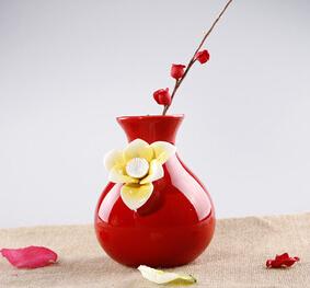 2015 European retro ceramic vase ornaments Korea creative mini flower vase home furnishings wedding decoration(China (Mainland))