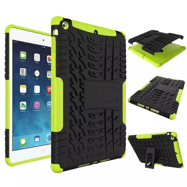 For iPad Air 5 Shockproof Cases Heavy duty Defender Hybrid Armor Impact Robot Cover 2 In 1 Dual Color Rugged Hard Kit Stand Case(China (Mainland))