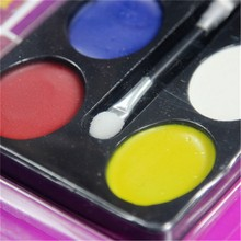 Halloween 6 Colors Carnival Face Paint Body Painting Color Oil Painting Art Make Up Party Fancy Dress Makeup Tools Random Style(China (Mainland))