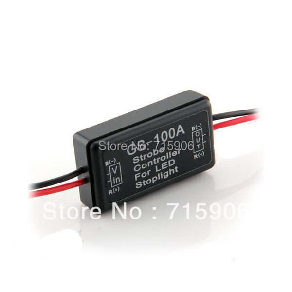 NEW Flash Strobe Controller Flasher Module for LED Brake Tail Stop Light 12-16V