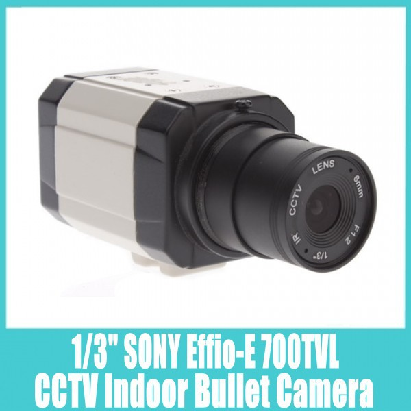 "CCTV Bullet Camera 1/3"" SONY Effio-E 700TVL , Security Indoor Mini CCTV Cam Video Camera (Free Shipping)(China (Mainland))"