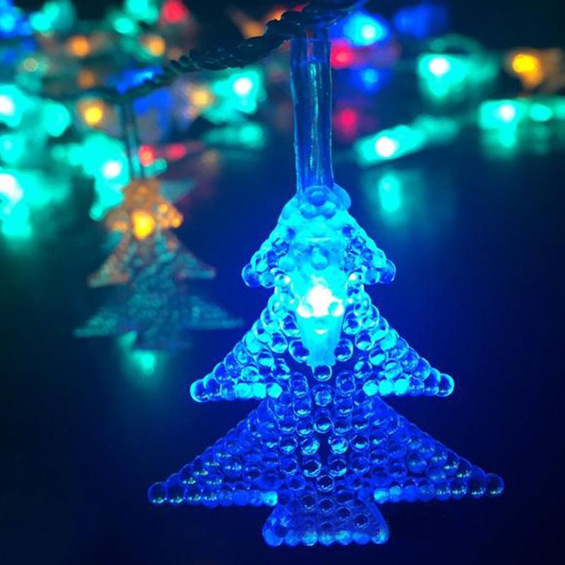 2m 20 LED Christmas Tree String Light Pendant Battery Waterproof Crystal Wedding Decoration Luminary Twinkle Strip(China (Mainland))