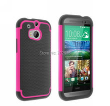 Hybrid Rugged Rubber Hard Case Cover For HTC One 2 HTC M8 Silicon+PC free shipping(China (Mainland))