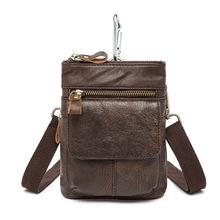 Buy Fashion Genuine Leather Casual Multi-function Bag Men's Shoulder Messenger Bag Hook Belt Waist Pack Mobile Phone Bags Travel for $16.21 in AliExpress store