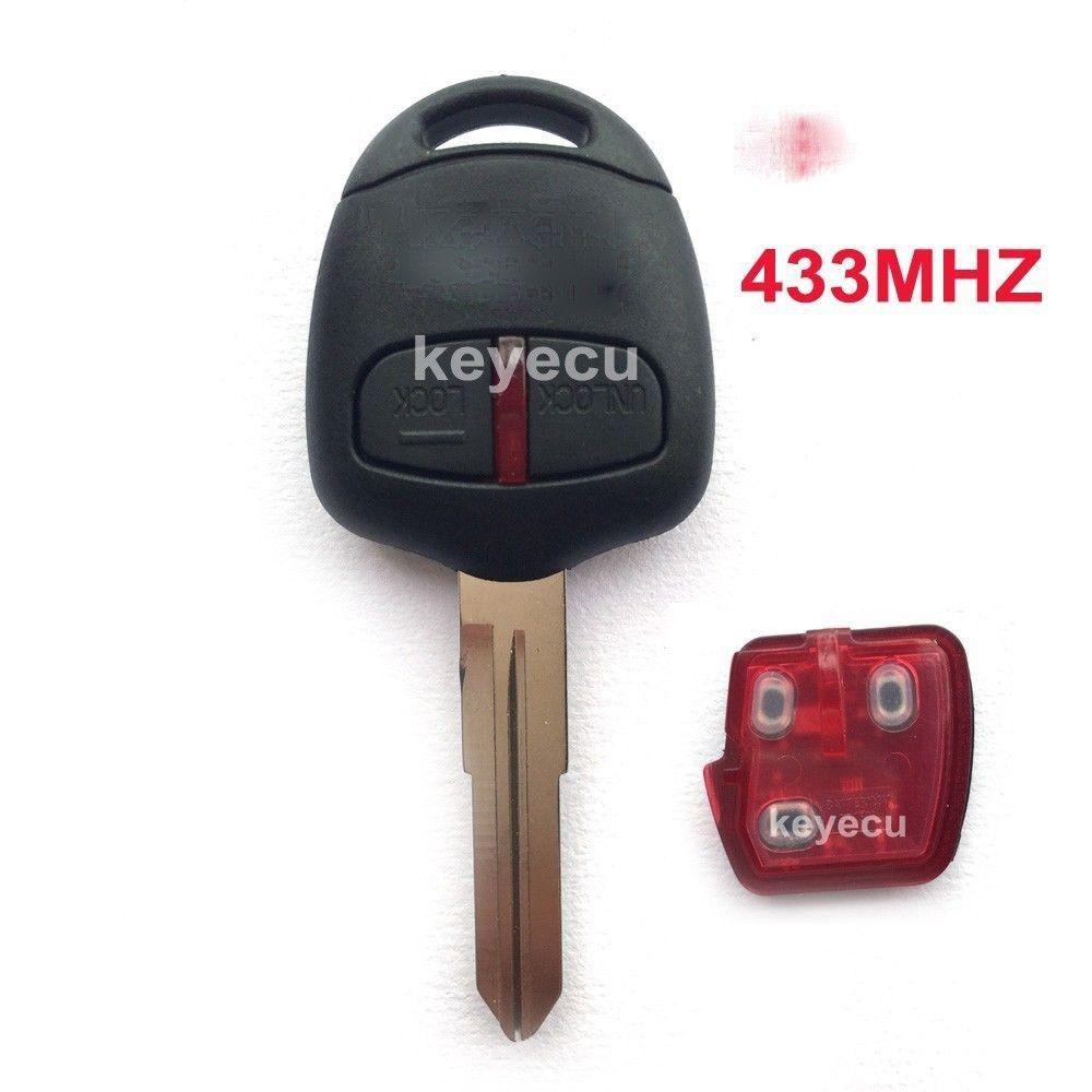 Brand New Remote Key Fob 2 Button 433MHz for Mitsubishi ...