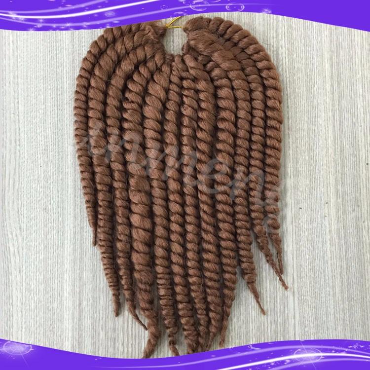 Havana Mambo Twist Crochet Braid Hair Synthetic Ombre Kanekalon Kinky Marley Twists Braiding Hair Extension07